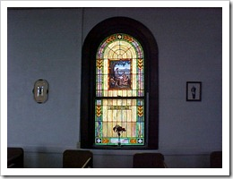 Brown Church, Stained Glass Window